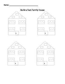 simple fact family house printable