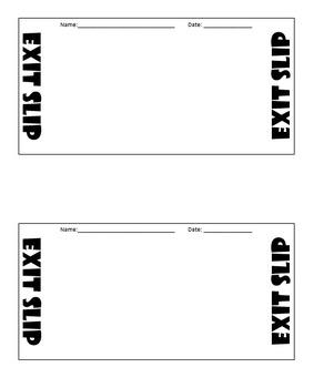 simple multi-use exit slip