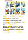 simple past guided writing task