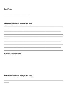 simple sentence writing practice