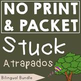 BUNDLE Stuck/Atrapados by Oliver Jeffers: Bilingual Speech Therapy Companion