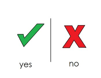 simple yes/no AAC visual [low tech]