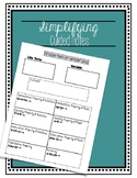 simplifying expressions guided notes