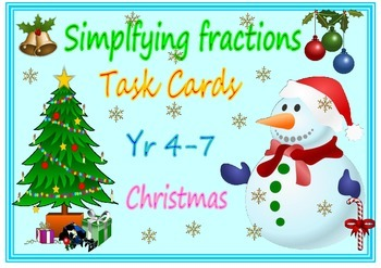 Christmas simplifying fractions