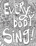 singing poster, everybody sing poster, vocal singing, musi