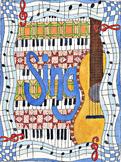 singing poster, music clip art, guitar clip art, music roo