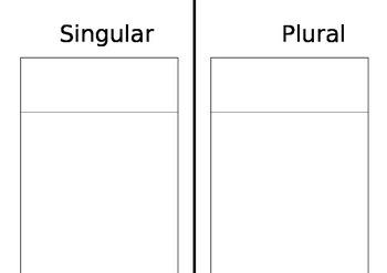 singular and plurals book