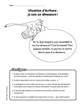 situation d'écriture dinosaure