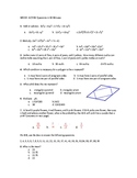 sixty question multiple choice standardized test practice test