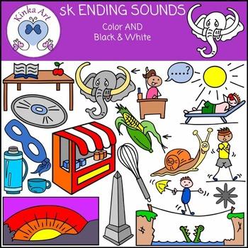 sk Ending Sounds Clip Art