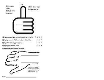 exit ticket / assessment
