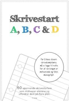 skrivestart A, B, C og D (pakke)