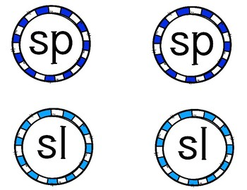 sl and sp blend word work
