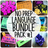 No Prep Language Therapy {BUNDLE PACK  #1}