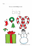 small Christmas math pack for prek and preschool