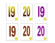 small number cards to 20, ideal for young learners!