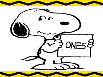 snoopy place value