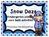 snow daze: winter themed math activities (common core aligned)