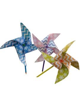 snowflake pinwheels