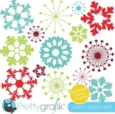 snowflakes clipart commercial use, vector graphics, digital clip art - CL606