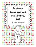 snowman math and literacy unit