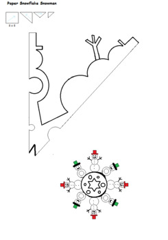 snowman snowflake pattern by artistic education tools and pre k activities. Black Bedroom Furniture Sets. Home Design Ideas