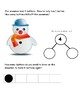 snowman word problem with 5 frames