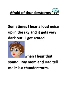 social story about thunderstorms