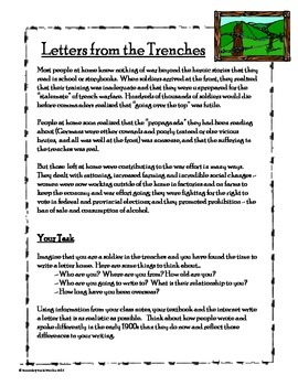 World War I Trench Letter