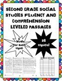 social studies fluency and comprehension leveled reading passages