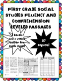 social studies fluency and comprehension passages bundle #2