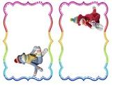 sock monkey cubby/locker tags
