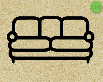 sofa, couch SVG cut files, DXF, vector EPS cutting file instant download