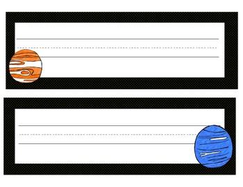 solar system desk tags