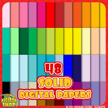 """solid digital paper in 48 colors  - background .jpg 12""""x12"""""""