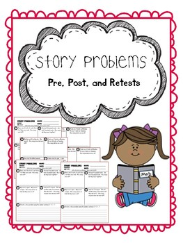 story problems pretest, posttest, and retest