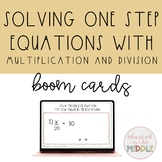 solving one step equations using multiplication and divisi