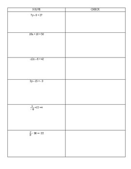 solving two step equation 2