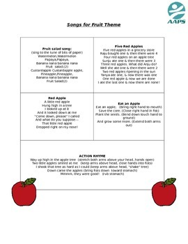 songs for Fruit theme