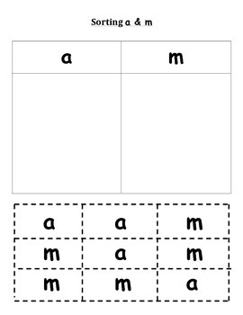 sort letter a and m