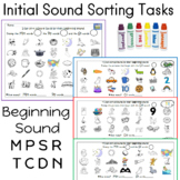 Beginning Sound Picture Sort; 9 Activities  (initial sound sorting)