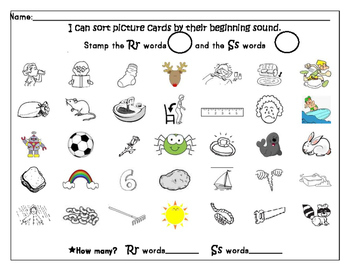 beginning sound identification using bingo markers