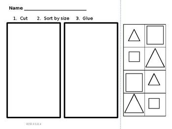 sort shapes 3 ways