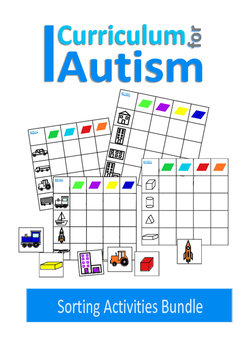 Autism, Colors & Nouns Sorting, Special Education Basic Concepts Vocabulary