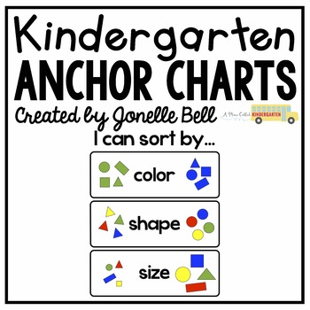 sorting anchor chart by jonelle bell a place called kindergarten