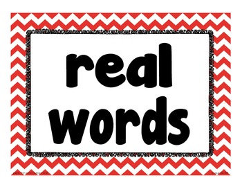 sorting apples: cvc real v. nonsense word sort