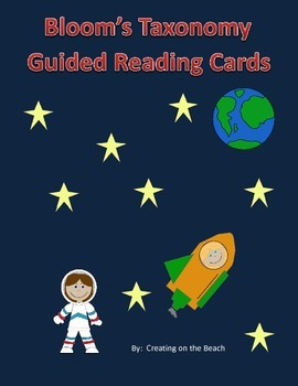 space themed Bloom's Taxonomy Guided Reading Cards