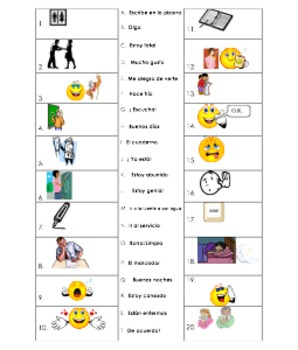 ~spanish 2 Beginning of year classroom and daily interaction vocabulary