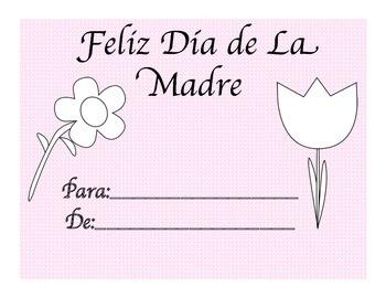 spanish Mothers Day Book-Feliz dia de la madre libro