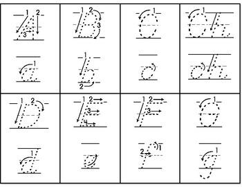 spanish alphabet tracing flashcards
